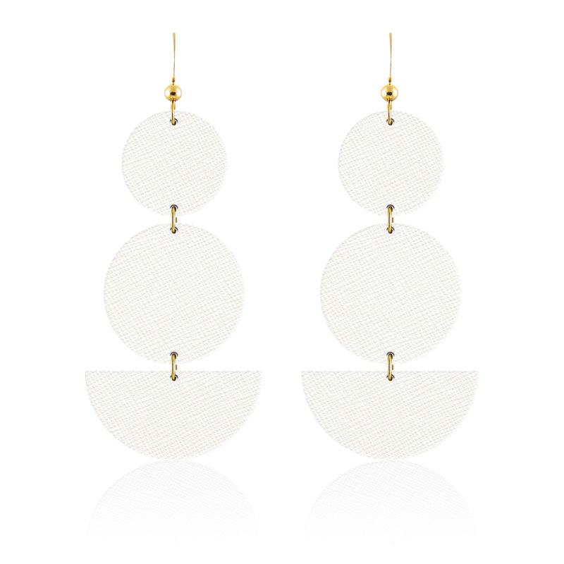 Fun white summer earrings