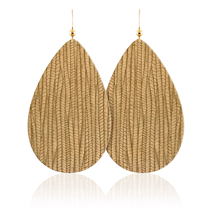 Willow Teardrop Leather Earrings