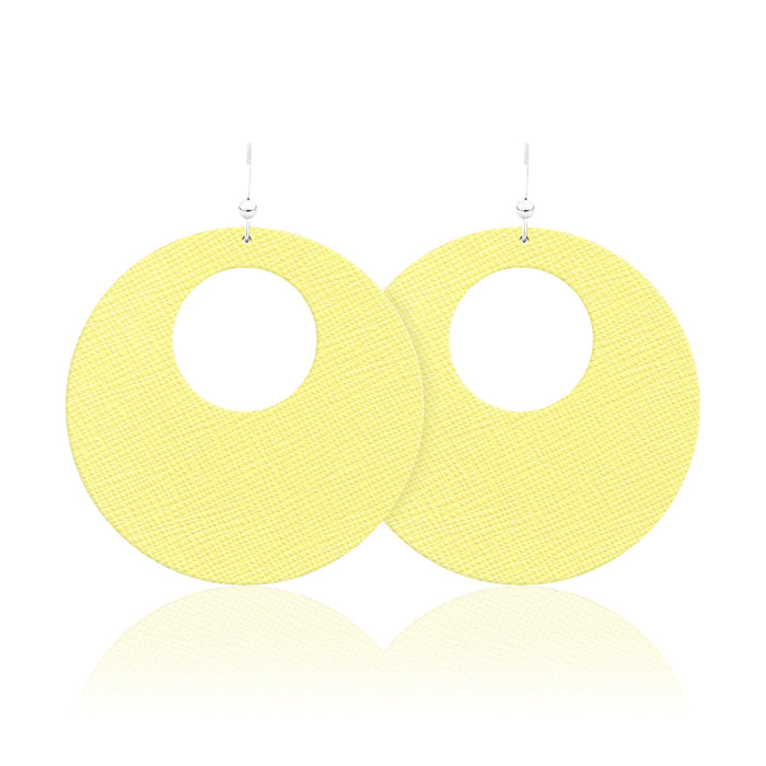 Buttercup Revolve Leather Earrings