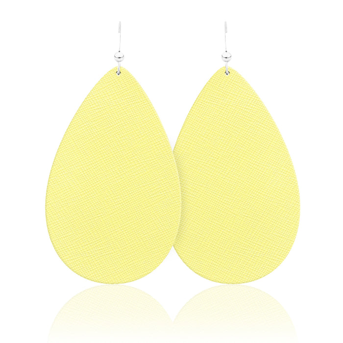 Buttercup Teardrop Leather Earrings