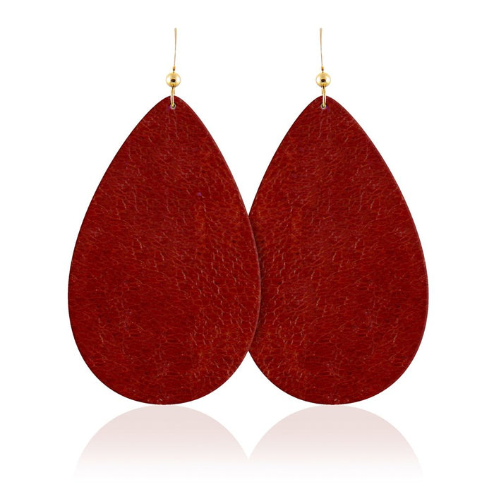 Fire Spirit Teardrop Leather Earrings