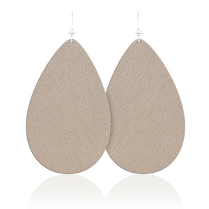 Navajo Teardrop Leather Earrings