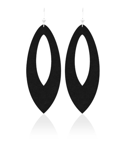 Midnight Cutout Leather Earrings