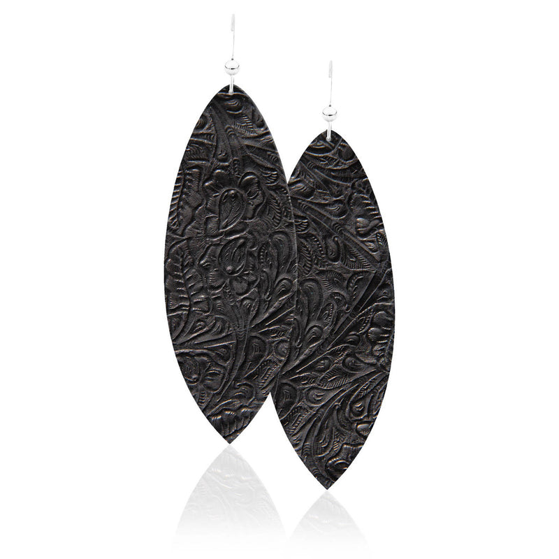 Luna Leather Earrings