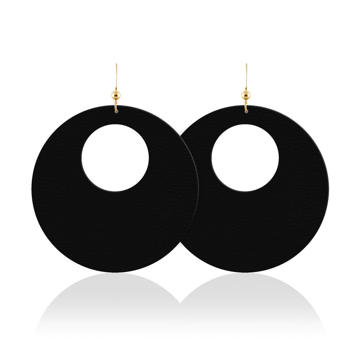 Midnight Revolve Leather Earrings