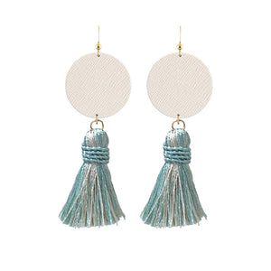 Tessa Tassel Leather Earrings