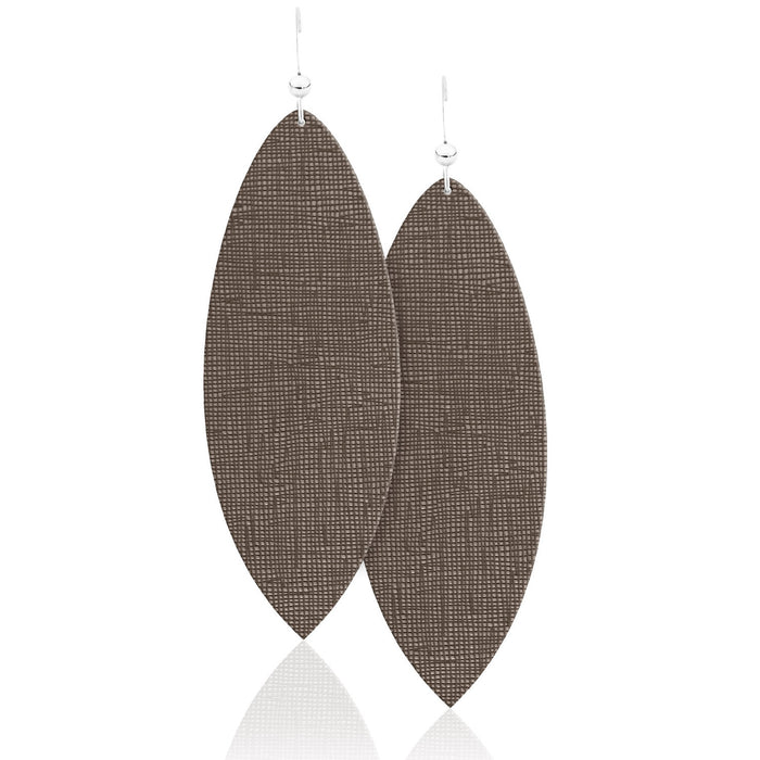 Vintage Tweed Leather Earrings