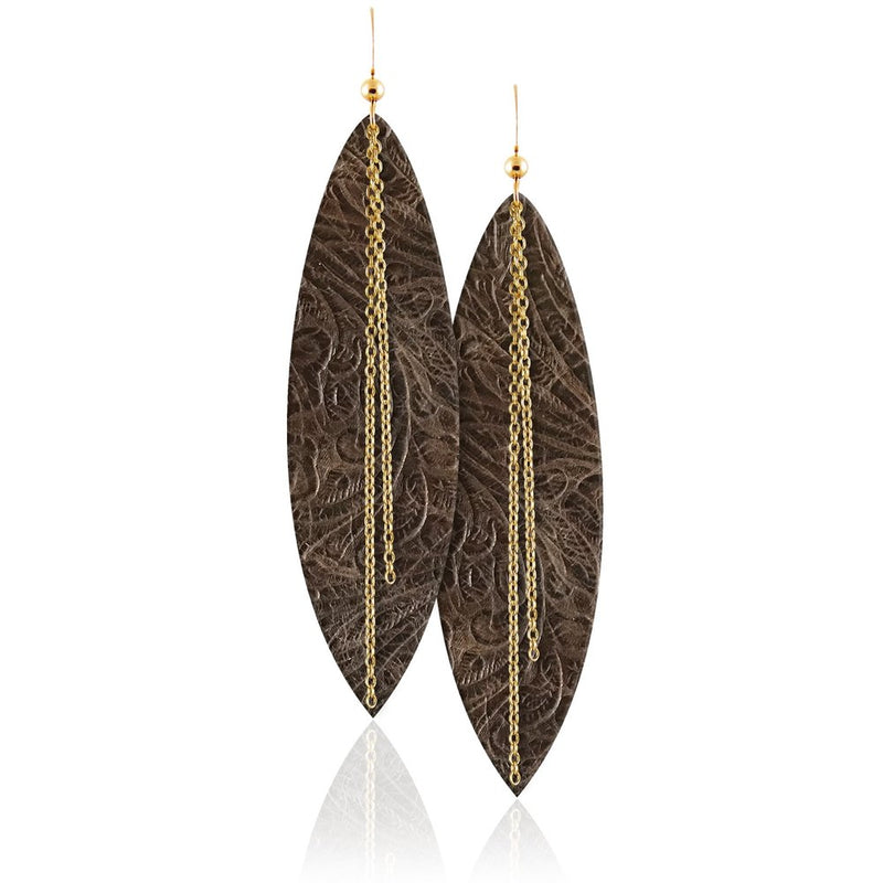 Sierra Linked Leather Earrings
