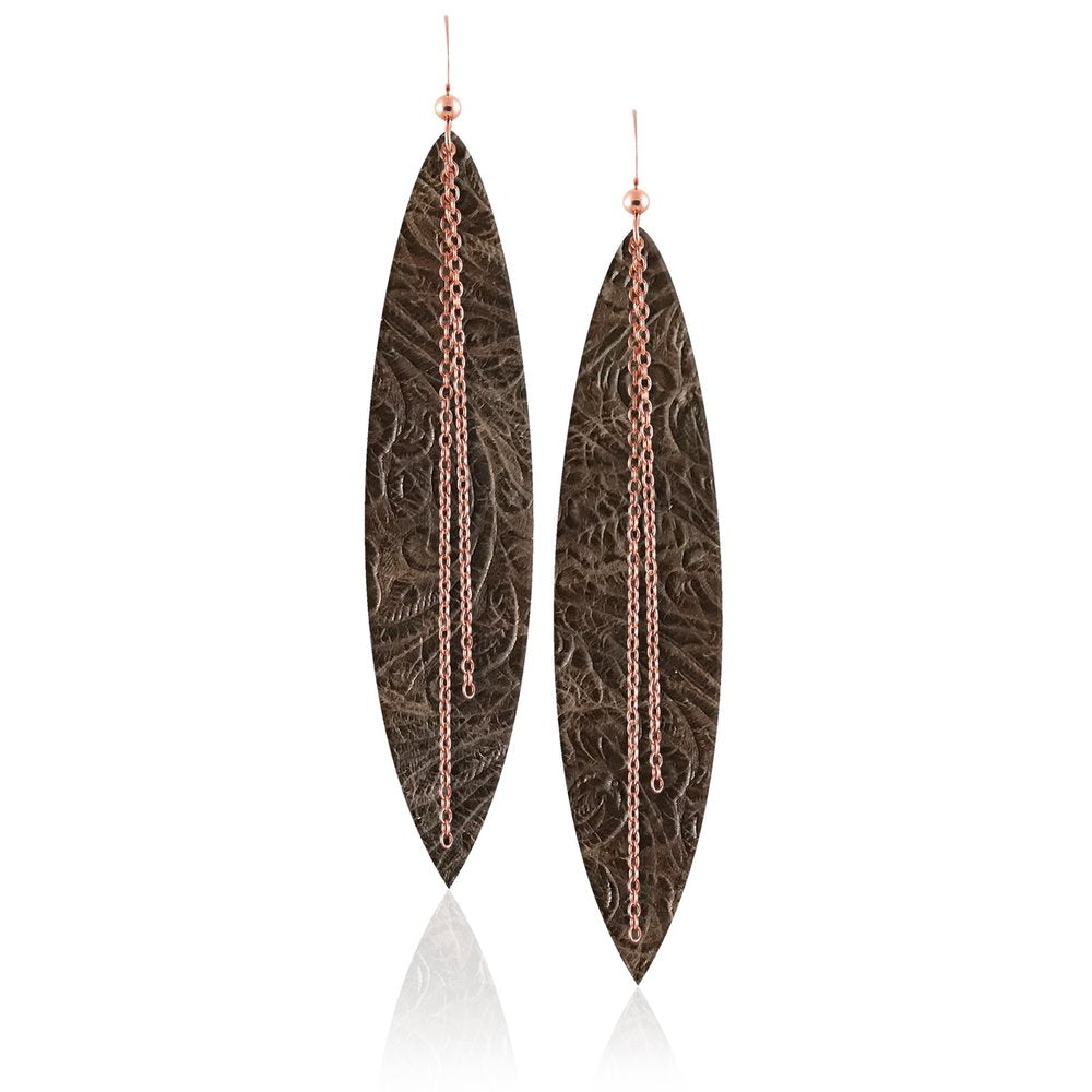 Sierra Linked Leather Earrings ©