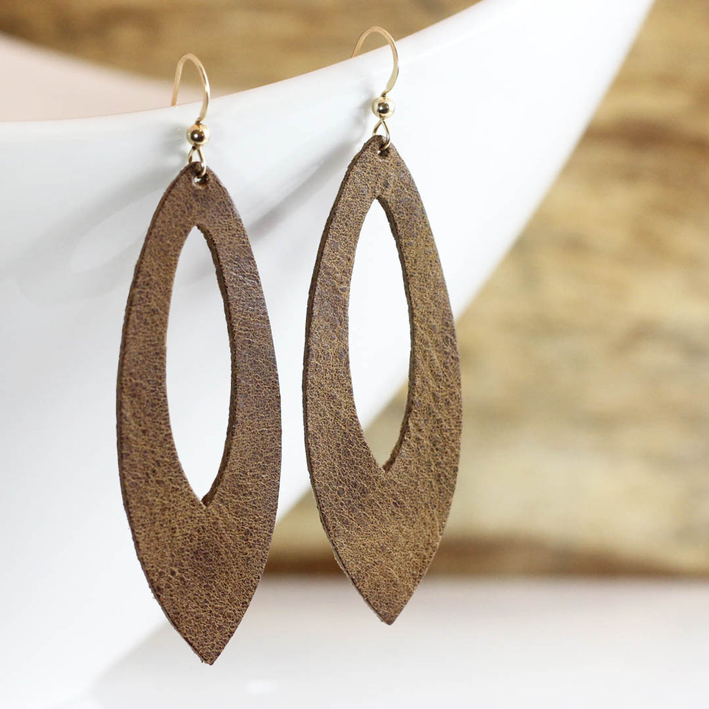 Desert Daughter Leather Cutout Earrings