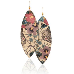 Flora Leather Earrings