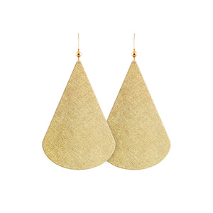 Gold Luster Belle Leather Earrings