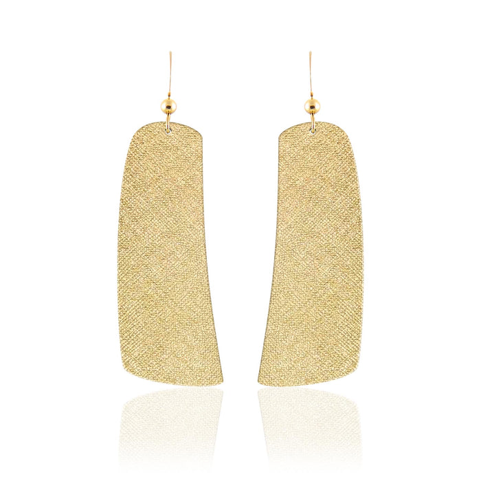 Metallic Luster Contour Leather Earrings