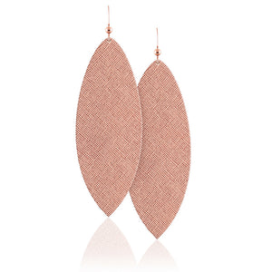 Rose Luster Leather Earrings