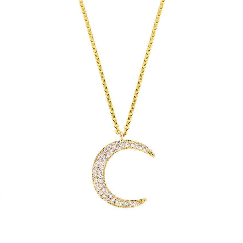 Crescent Moon Necklace - Gold - Necklace