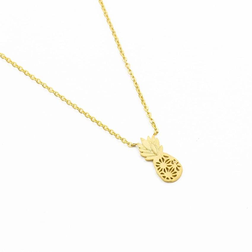 Dainty Pineapple Necklace - Necklace