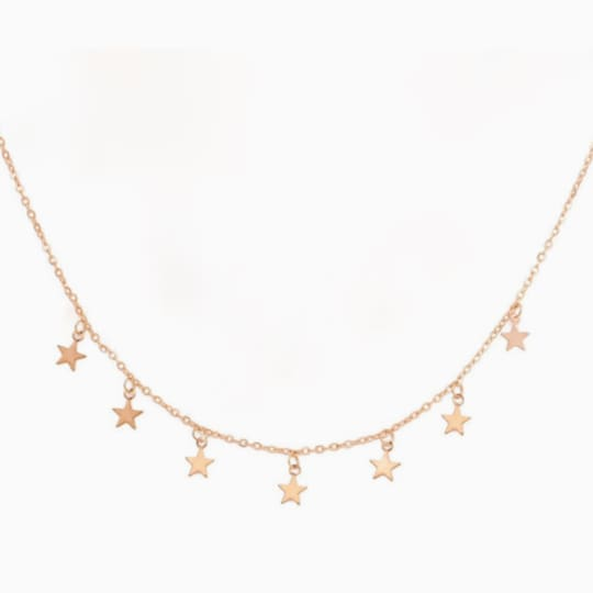 Falling Stars Necklace - Gold - Necklace