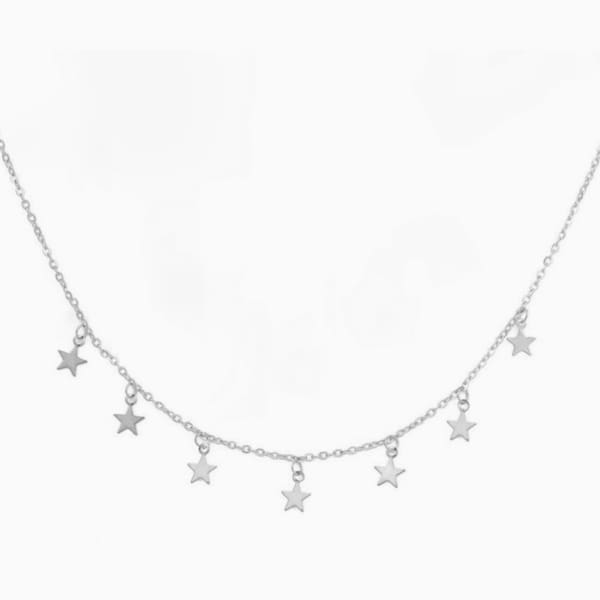 Falling Stars Necklace - Silver - Necklace