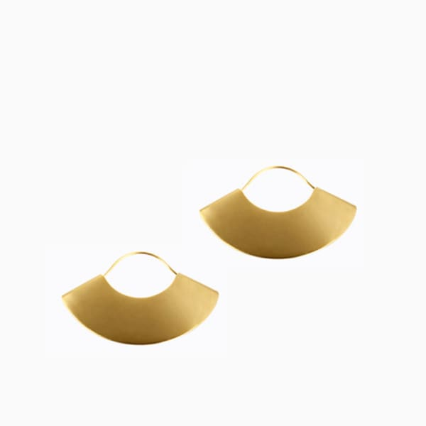 Fan Earrings - Matte Gold - Earrings