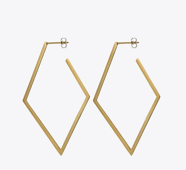 Geometric Earrings - Matte Gold - Earrings