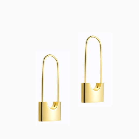 Lock Earrings - Gold - Earrings