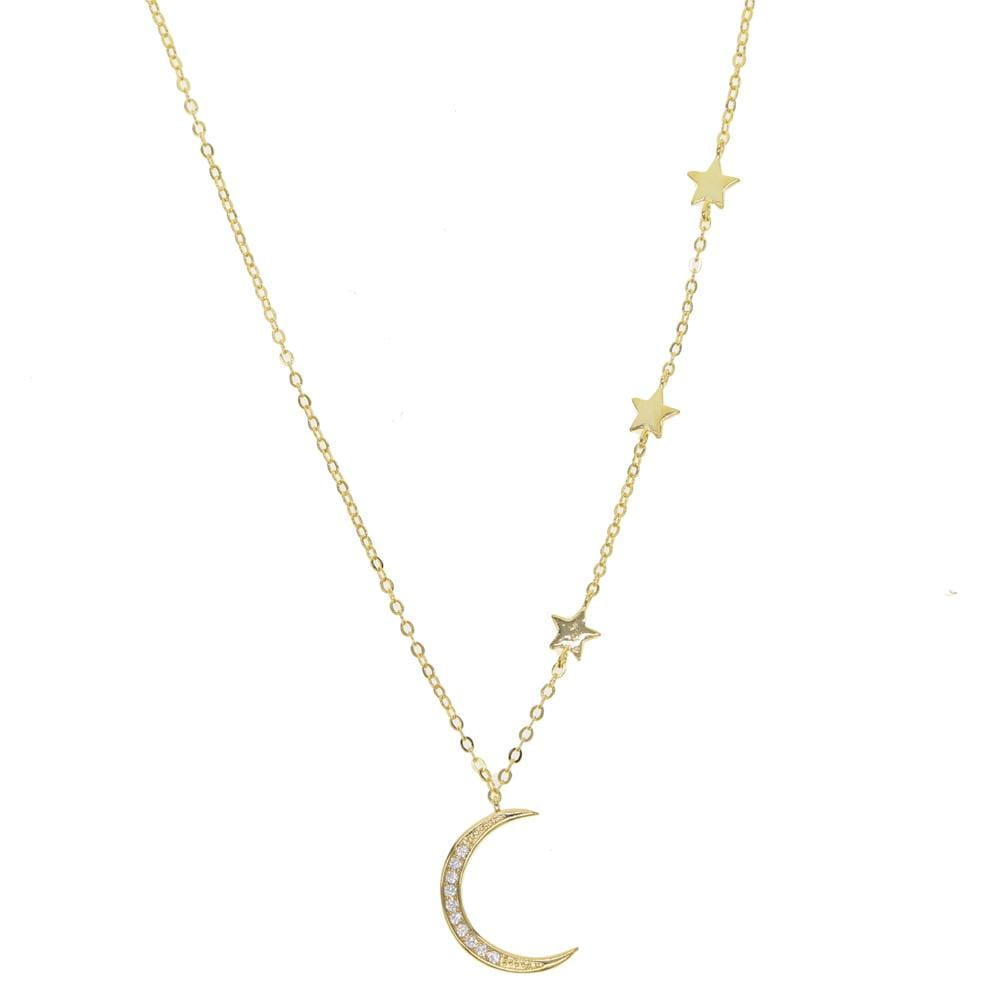 Love You To The Moon Necklace - Gold - Necklace
