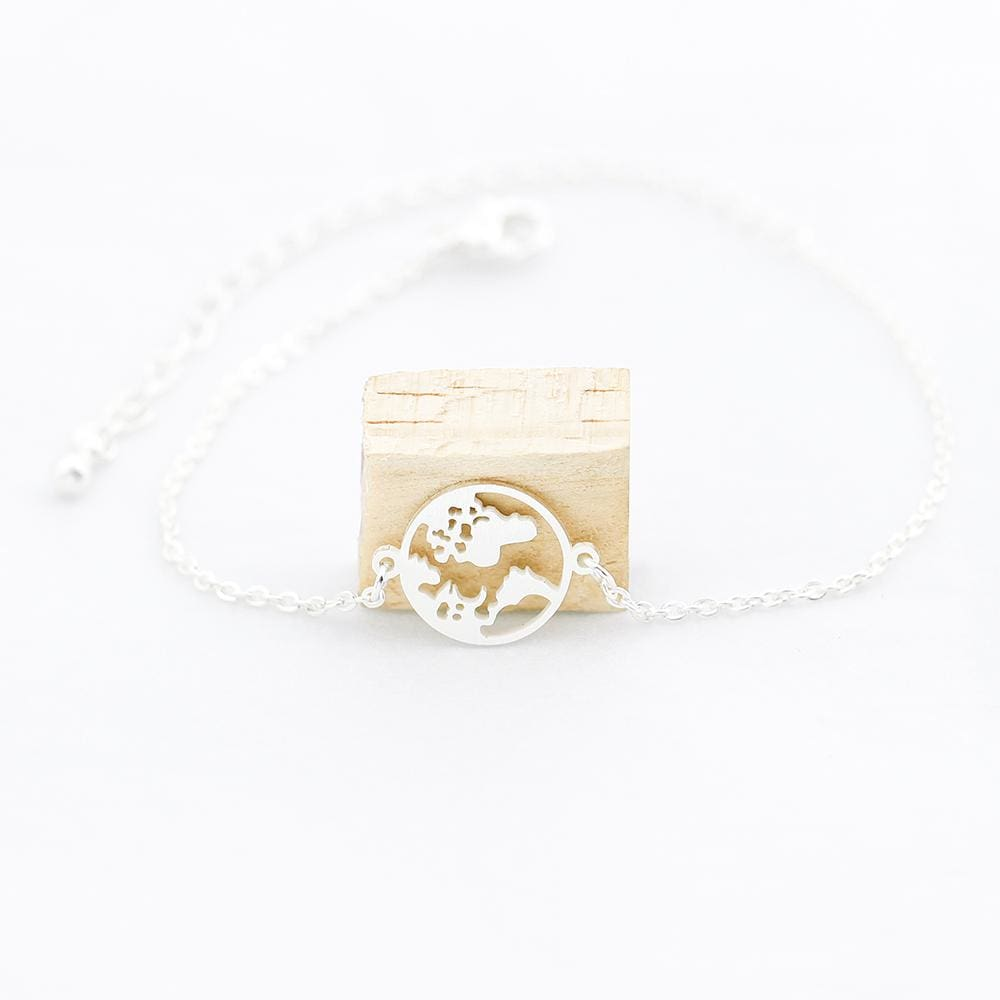 World Map Bracelets - Silver / China - Bracelet