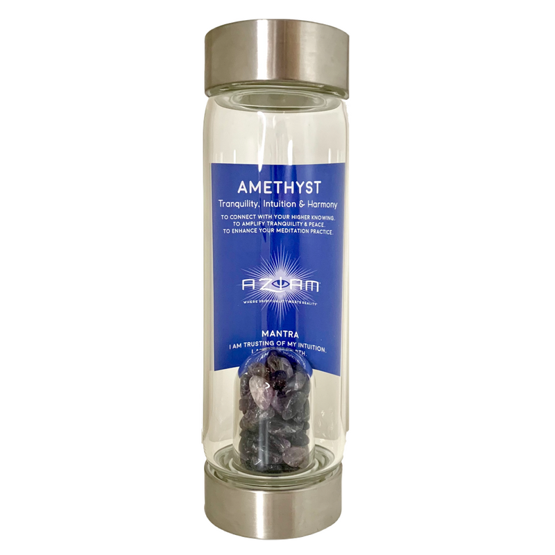 Amethyst Water Bottle - I AM Trusting