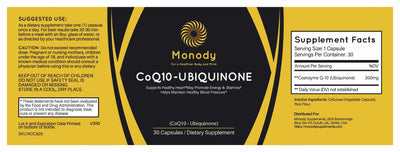 CoQ10 with Ubiquinone Information