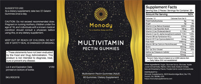 Multivitamin Gummies Adults - Information