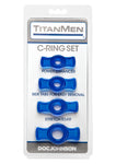 TitanMen Cock Ring Set - Blue - Fetshop
