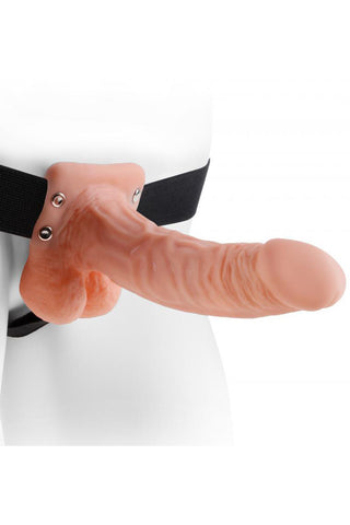 7 Inch Hollow Strap-On with Balls