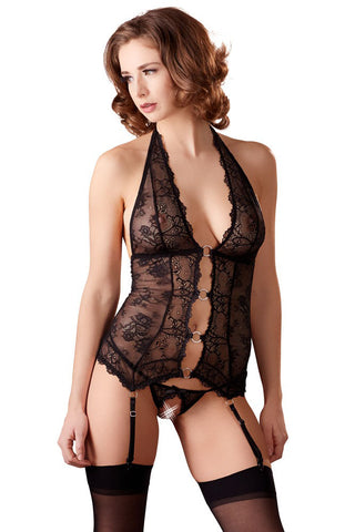 Abierta Fina Lace Basque and String