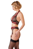 Abierta Fina Suspender Set with Rhinestones