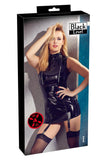 Black Level Vinyl Dress with Suspenders