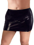 Black Level Plus Size Vinyl Skirt 4XL