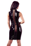 Black Level Vinyl Dress with Lacing