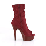 Pleaser DELIGHT-1031 Boots Burgundy