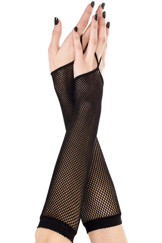 Music Legs Fishnet Arm Warmer