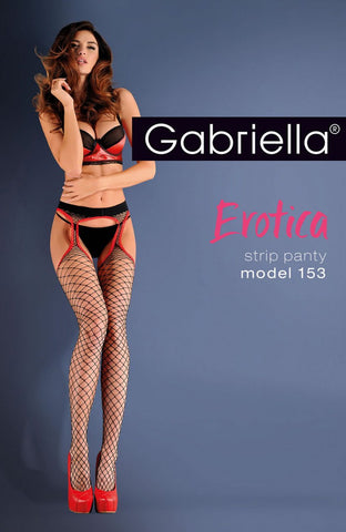Gabriella Erotic Strip Panty 153-637 Nero