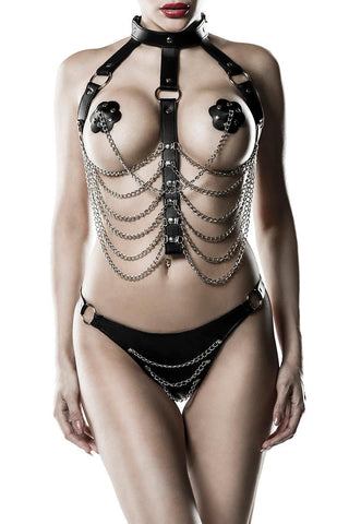 Grey Velvet Three-Part Harness Set