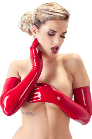 LATE-X Red Latex Gloves