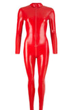 LATE-X Latex Catsuit Red