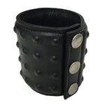 Black Leather Studded Wrist Cuff - Fetshop