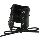 Black Leather Lace Up Studded Gauntlet - Fetshop