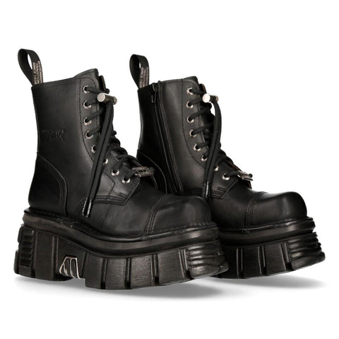 New Rock Black Combat Boots M.NEWMILI083-S21