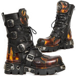 New Rock M.591-S1 Boots Red Flame