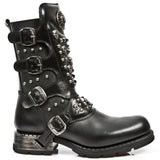 New Rock Skull and Studs Motorock Boots M.MR019-S1