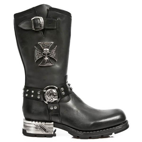 New Rock Iron Cross Motorock Boots M.MR030-S1