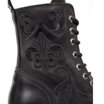 New Rock Embroidered Fleur De Lys Boots M.NEWMILI118-S1